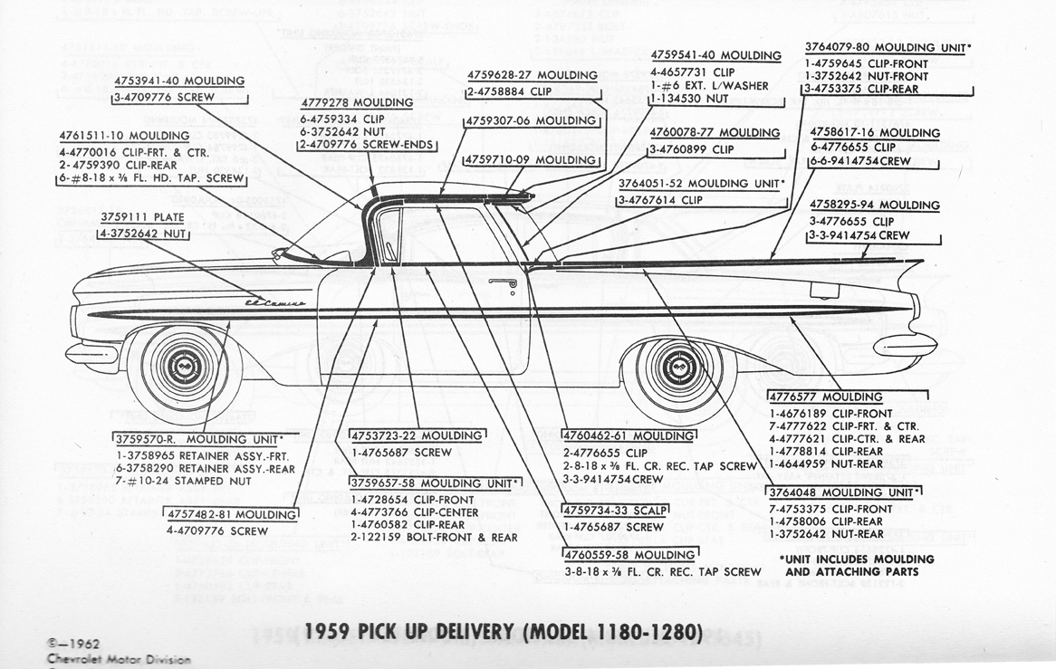 nemo el camino 1981 el camino wiring-diagram 1959 el camino trim and clips